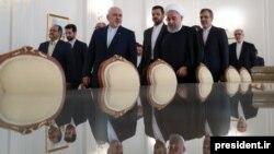 حسن روحانی در بازدید از وزارت خارجه ایران در مرداد ۹۸