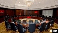 Илустрација - Новата сала за седници на владиниот кабинет.