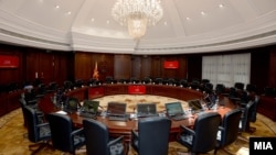 Илустрација-салата за седници на Владата на Македонија