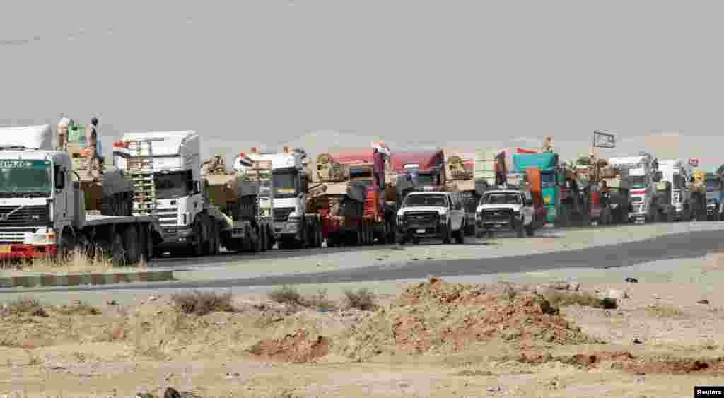 کاروانی از تجهیزات و ادوات برای نیروهای امنیتی عراق
