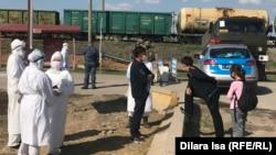 Блокпост на выезде из Шымкента. 2 апреля 2020 года.