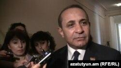 Председатель Национального Собрания Армении Овик Абрамян