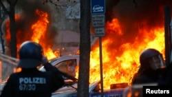 Беспорядки во Франкфурте-на-Майне. 18 марта 2015