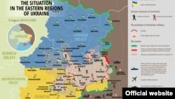 Украина шарқида 3 август кунги вазият харитаси.