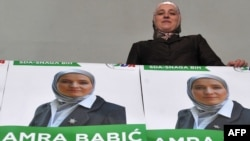 Amra Babic, the newly elected mayor of the central Bosnian town of Visoko