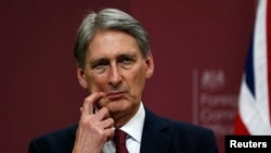 Britain's Foreign Secretary Philip Hammond