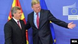Архивска фотографија: Средба на претседателот Ѓорге Иванов со еврокомесарот за проширување Штефан Филе Брисел, Белгија.