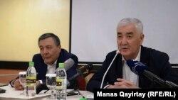 Амиржан Косанов на пресс-конференции движения «Улт тагдыры», Алматы, 26 апреля 2019 года.