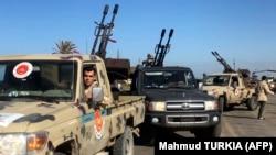 Snage lojalne Vladi nacionalnog jedinstva (GNA) nedaleko od Tripolija, travanj 2019.