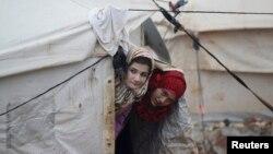Сирияның Идлиб провинциясындағы босқындар лагері.