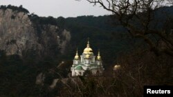 Biserica Sf. Arhanghel Mihail din Ialta, Crimeea, 11 martie 2014