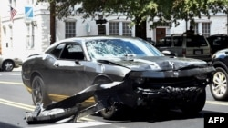 Авто, яким нападник, за повідомленнями, наїхав на демонстрантів у Шарлотсвіллі, 12 серпня 2017 року