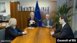 Pamje nga bisedimet mes përfaqësuesve të Kosovës dhe Serbisë në Bruksel