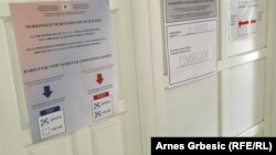 Босния серблари сайлов участкаларидаги кўргазма.