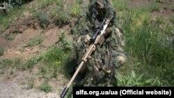 Український спецпризначинець на Донбасі у зоні АТО