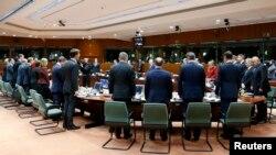 قادة اوربا يقفون دقيقة صمت على ارواح ضحايا هجوم باردو، 19 آذار 2015.