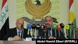 نائب رئيس حكومة إقليم كردستان عماد أحمد ووزير الداخلية كريم سنجاري