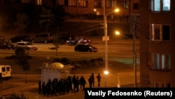 Білоруські силовики патрулюють вулиці Мінська на випадок протестів, 12 серпня 2020 року