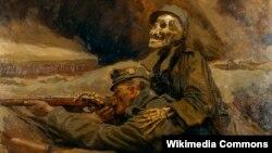 Ганс Лярвін, «Салдат і сьмерць» (1917))