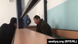 Один из водителей сгоревшего в Казахстане автобуса Нуржан Кыргызбаев в зале суда, 26 января 2018 года.
