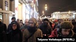 Марш в память о Маркелове и Бабуровой (Петербург, 19 января 2017 г.)