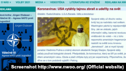 Скріншот чеського дезінформаційного сайту