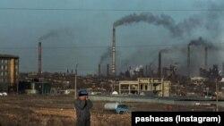 Промышленный комплекс в Темиртау. Фотография местного жителя.