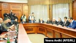 Predstavnici Srba sa Kosova na sastanku sa premijerom Vučićem u Beogradu 26. decembra 2016.