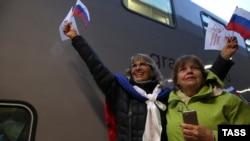 Прибытие российского поезда «Таврия» в Симферополь, декабрь 2019 года. Иллюстрационное фото