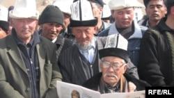 На курултае много пожилых людей