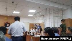 Фото из зала суда. 7 августа.
