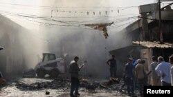 Arkiv - Pamje nga një sulm i mëhershëm në Bagdad
