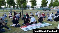 Türkiýede ýaşaýan türkmenistanlylar Stambulda türkmen hökümetine garşy protest geçirýär. 19-njy iýul, 2020 ý. Illýustrasiýa suraty.