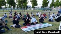 Мирная демонстрация туркменских активистов перед консульством Туркменистана, Стамбул, 19 июля, 2020