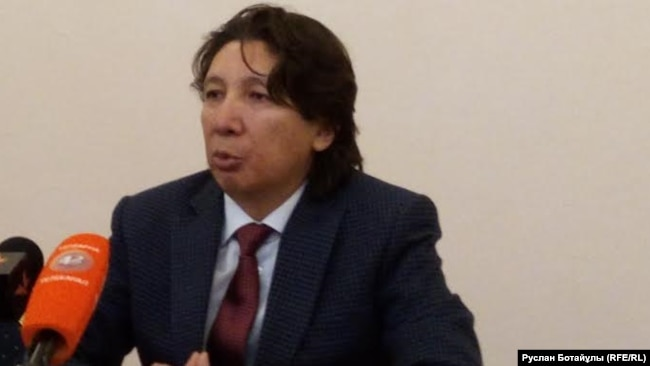 Жаксылык Жаримбетов выступает на пресс-конференции в Астане после экстрадиции в Казахстан и освобождения из-под ареста. 30 января 2017 года.