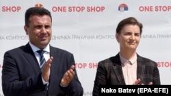 Zoran Zaev i Ana Brnabić na graničnom prelazu Tabanovce - Preševo