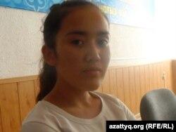 Орал қаласындағы ЖОО-ға түскен Раушан Бегалиева. Шымкент, 25 тамыз 2014 жыл.