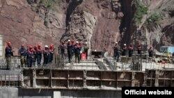 Строители Рогунской ГЭС