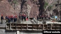 Строители Рогунской ГЭС в Таджикистане. 10 мая 2018 года.