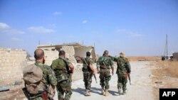 Pamje e ushtarëve të Sirisë në provincën Alepo