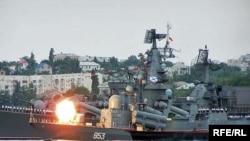 اين نخستين بار است که ناوهاي روسيه در مانوری نظامی در آمريکای لاتين شرکت می کنند.(عکس: RFE/RL)