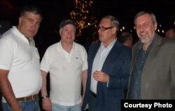 Міхэіл Саакашвілі, Джон Маккейн, Міхаіл Касьянаў, Андрэй Саньнікаў, красавік 2013