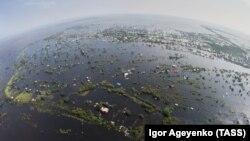 Затопленные деревни в Амурской области. 14 августа 2013 года.