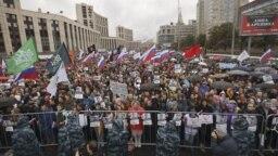 Митинг оппозиции в центре Москвы, 10 августа 2019 года