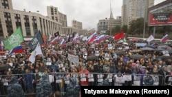 Митинг оппозиции в Москве, 10 августа, 2019