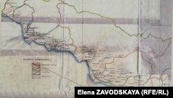 Фрагмент карты избирательных округов Абхазии 1937 года