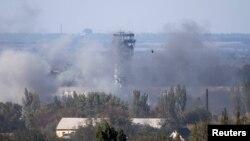 Pamje e luftimeve për aeroportin ndërkombëtar në Donjeck