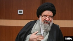 Ahmad Khatami, a hardline cleric and Tehran's Friday Prayer Leader is a staunch supporter of Khamenei's uncompromising positions.