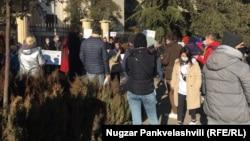 گوشه ای از جریان تجمع اعتراضی در مسکو