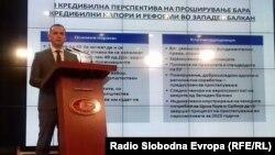 Скопје-прес конференција на вицепремиерот Бујар Османи на која ја презентира Стратегијата на ЕУ за Западен Балкан,08.02.2018